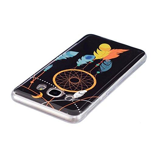 Samsung Galaxy J5 (2016 Version) Coque Gel TPU Silicone Etui Intégrale Transparent Case pour Samsung Galaxy J5 (2016 Version) Housse Protection Full Silicone Souple Case, Vandot Samsung Galaxy J5 (201 Light-12