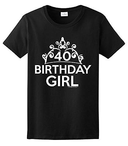 40th Birthday Gifts For All Birthday Girl Tiara Ladies T-Shirt XXX-Large Purple
