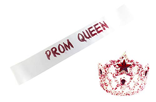 Prom Queen Sash And Tiara Set Zombie Prom Queen Homecoming Halloween Costume