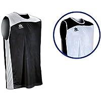 Luanvi Game Camiseta Reversible de Baloncesto, Hombre, Negro/Blanco, 3XL