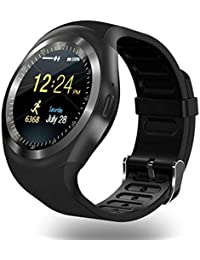 WEIHONG Pantalla Smart Watch Y1 Round Nano Tarjeta SIM Rastreador de Ejercicios Smartband Smart Watch,