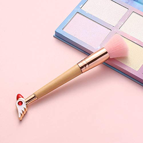 LEDADIE Schminkpinsel Heiß!4 Stil Make-up Pinsel Bambus Make-up Pinsel Soft Synthetic Hair Collection Pink Powder Blush Pinsel mit zufälliger Farbe BOX-bird head-z - Da Vinci Collection