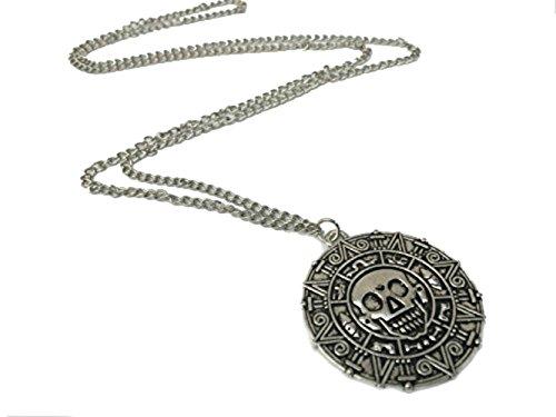Chamber37 collana con ciondolo forma di moneta azteca del film Pirati dei Caraibi