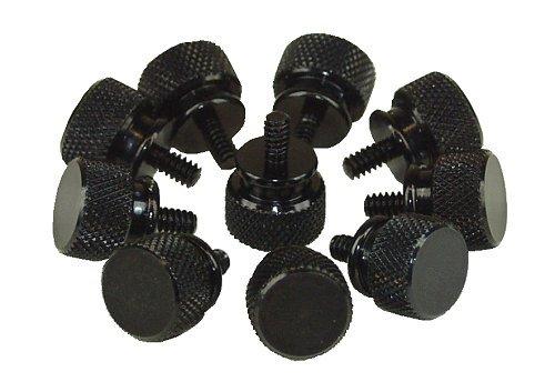 InLine Rändelschrauben (schwarz) für Gehäuse, 12mm, 10er Pack