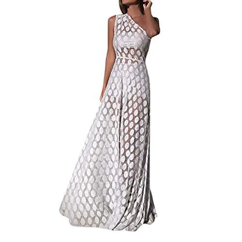 Ninasill - Vestido formal encaje punto ondulado, hombros