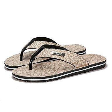 Slippers & amp da uomo;Sandali estate luce Suole PU casual terra gialla bianchi sandali US7.5 / EU39 / UK6.5 / CN40