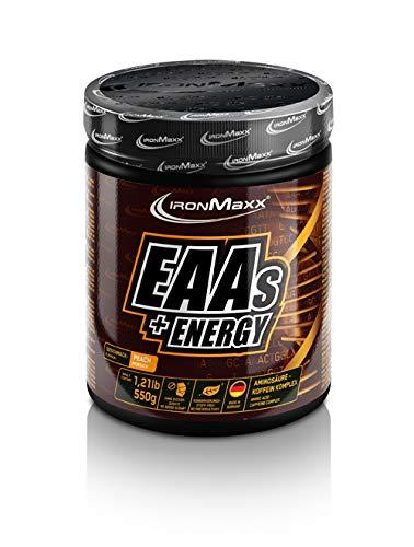 IronMaxx EAAs + Energy essentielle Aminosäuren mit Koffein, 1 x 550 g Pulver in Pfirsich