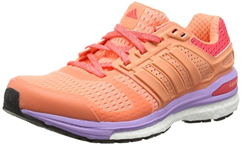 adidas Damen Supernova Sequence Boost 8 Laufschuhe, Orange (Sun Glow S16/Sun Glow S16/Shock Red S16), 40 EU (Adidas-sequence)