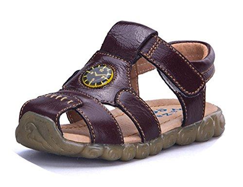 Ohmais Enfants Chaussure bebe garcon premier pas Chaussure premier pas bébé sandale en cuir souple Kaki