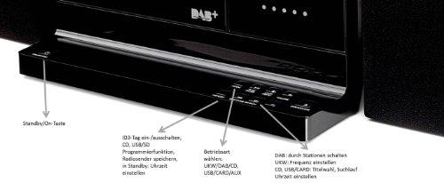 Dual Vertical DAB 101 Kompaktanlage Digitalradio mit CD-Player - 3