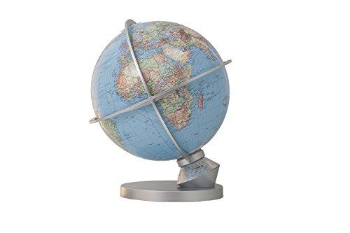 Preisvergleich Produktbild DUO Planet Erde, Leuchtglobus, Tag- und Nachtdarstellung, Daemmerungszonen, Jahreszeitenskala, App faehig, handkaschierte 34 cm Acrylglaskugel, Metallhaube aus Edelstahl 203482