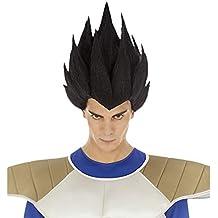 Chaks Dragon Ball Peluca Vegeta Sayajin Accesorio de Vestuario Negro