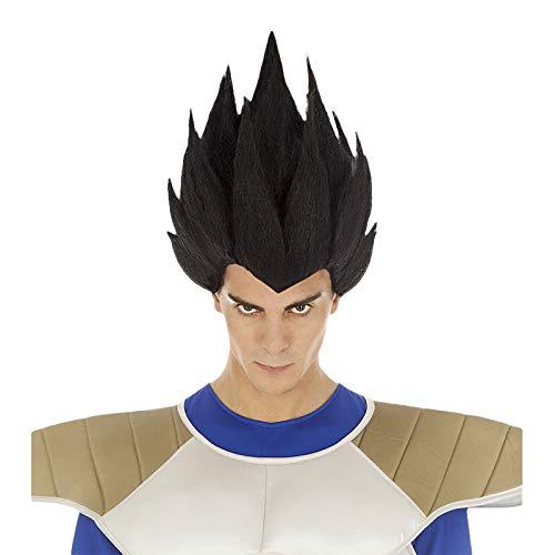 Chaks Dragon Ball Perücke Vegeta Sayajin Kostüm Zubehör schwarz