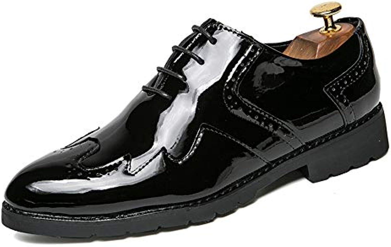 Xiaojuan-scarpe, Scarpe eleganti stringate da uomo in pelle stile Oxford Wingtip,Scarpe Uomo Pelle (Coloree   Nero... | Fine Anno Vendita Speciale  | Uomini/Donna Scarpa