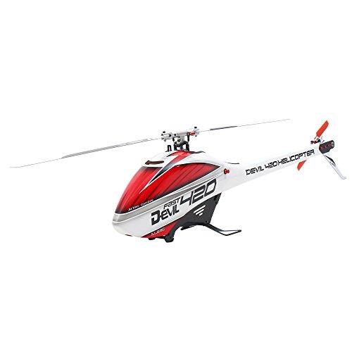 Goolsky ALZRC Devil 420 FAST Flybarless Gürtel Drive 6CH 3D Hubschrauber Super Combo Set mit Motor ESC Servo Gyro (Gürtel 420)