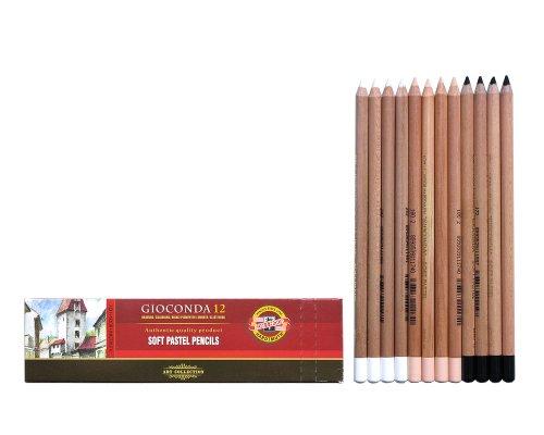 Pastellstifte 12er Hautfarben + Weiss + Schwarz Pastellkreide Stifte Set für Künstler von...