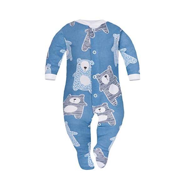 Sibinulo Niño Niña Pijama Bebé Pelele de Algodón- Tamaños 56-74 - Pack de 3 10