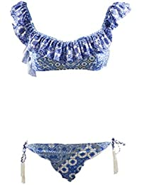 d9a6a1812793 FK Project Novita' F**K Bikini Fascia Slip Brasiliano F18B1F103WH  Bianco/Celeste
