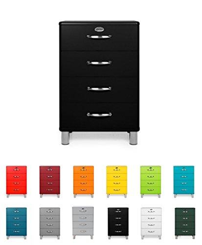 Tenzo 5116-033 Malibu - Designer Kommode 92 x 60 x 41 cm, MDF lackiert, schwarz