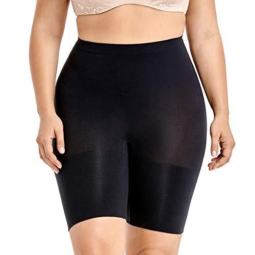 Delimira donna guaina modellante cosce pantaloncino contenitiva snellente taglie forti nero 50/52