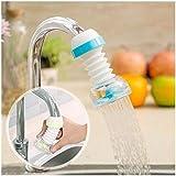 GROS Adjustable Splash-Proof Sprinkler 360 Degree Rotatable Faucet Sprayers Tap for Bathroom Wash Basins Accessories (Blue)