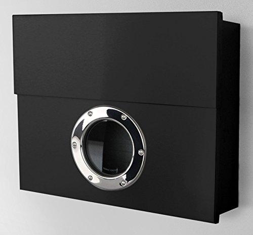 Radius - Briefkasten - Postkasten - Letterman XXL - Stahl pulverbeschichtet - schwarz 50 x 43 x 14 cm
