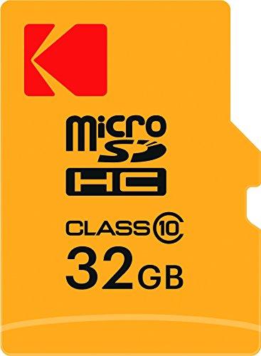 Kodak 32GB microSDHC Speicherkarte mit SD-Adapter Class 10, microSDXC - Karte Raspberry Sd Pi
