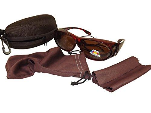 Sonnenüberbrille Überzieh Sonnenbrille CLASSIC EDITION polarisiert UV 400 (Leopard)