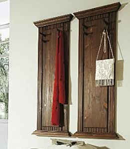 clever moebel massive wandgarderobe im 2er set garderobe k che haushalt. Black Bedroom Furniture Sets. Home Design Ideas