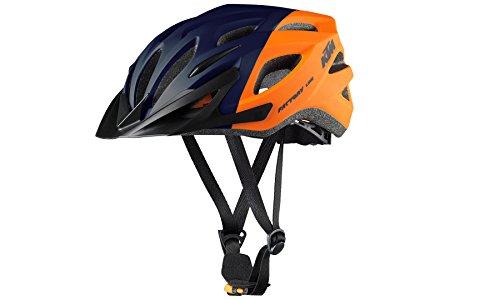 KTM BIKE Fahrrad MTB Helm - FACTORY LINE 2018 - Gr. 54-58 - Orange/Dunkelblau - Matt (8-005)