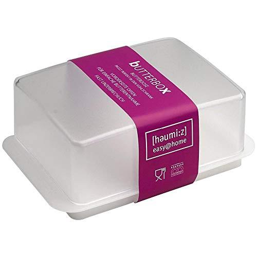 HomeXpert 302301 Beurrier Plastique Blanc 15 x 10 x 10 cm