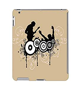 Fuson 3D Printed Music Wallpaper Designer Back Case Cover for Apple iPad 3 - D717