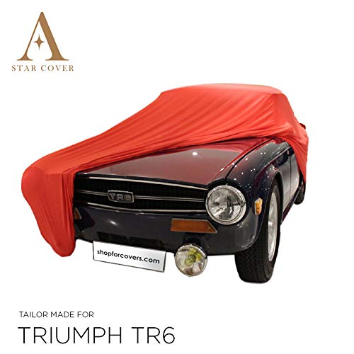 Star Cover Housse Voiture INTÉRIEUR Triumph TR6 | Rouge Housse |...