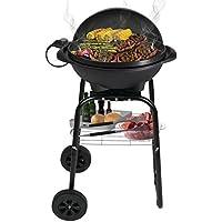 BBQ Elektro-Grill 1850 Watt mit 40cm Grillplatte und 3 Meter Kabel, dank der Räder perfekt als Grillwagen, sicherer Stand, Kugelgrill, Tischgrill Standgrill Barbecue, Indoor & Outdoor