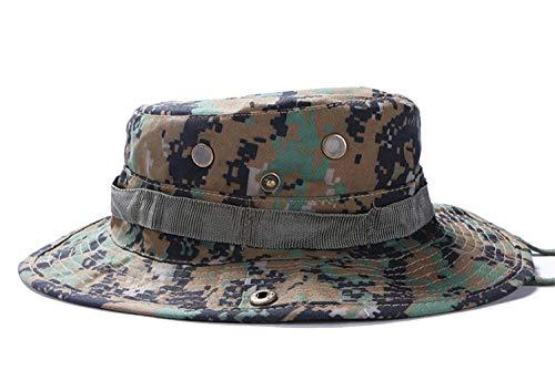 Martinad Camouflage Hut Sommer Jagd Sonnenschutz Outdoor Stilvolle Cap Bootfahren Unikat Snap Brim Hut Hüte Hat (Color : Brown, Size : One Size) Snap Brim Hut