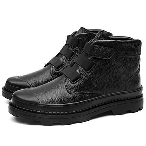 Rlyay uomo vintage martin stivali alto top nero inghilterra scarpe casual,black,45eu