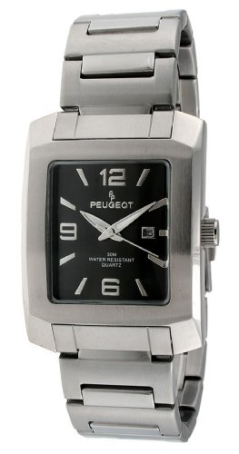 Peugeot Men's 1007GY Silver-Tone Bracelet Watch