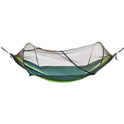 Hängematte Camping-Hängematte, Moskitonetz-Zelt außerhalb der Hängematten-Reise-Bett-Licht-Fallschirm-Stoff-Doppelhängematte Innen,