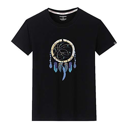 SUDADY Camisetas para Hombre,atrapasueños Impreso Manga Corta Tops,Camiseta Cuello Redondo Hombre, Hombre Verano Corta Manga T-Shirt,Camisa de Manga Corta Casual,Top de Hombre Color sólido