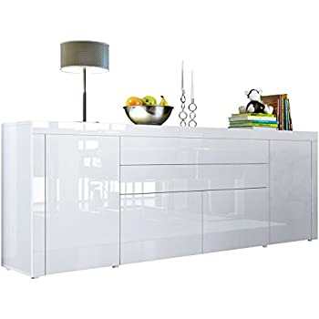sideboard kommode flow korpus in wei matt wei. Black Bedroom Furniture Sets. Home Design Ideas
