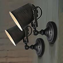 Coquimbo rústico ajustable única luz de luz industrial Fixture de pared decoración del hogar, sin bombilla, color negro