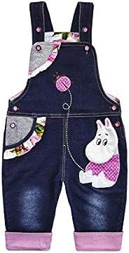 KIDSCOOL SPACE Baby Cotton 3D Cartoon morbido maglia jeans tuta