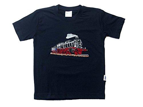 Zintgraf T-Shirt Stickerei Dampflok Lokomotive Eisenbahn #T15 (98, Blau)