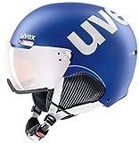 Uvex 500Visor Casco da Sci, Unisex, S5662134005, Cobalt-White Mat, 55-59 cm