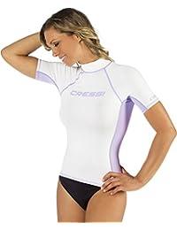 Cressi Rash Guard - Camiseta para mujer, de manga corta y manga larga elaborada en tejido elástico de primera calidad con filtro de protección UV UPF 50+