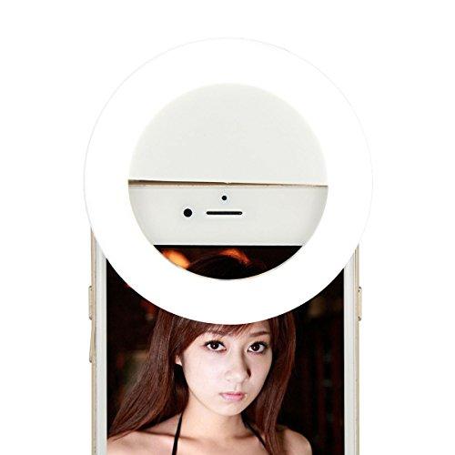 Proam RK-14 33 LED Ultraleicht-Mobiltelefon-LED Selfie Ringlicht Universal-Ring Mounted für iPhone, Samsung Galaxy und anderes Telefon. Verwendbar für Video oder Fotos