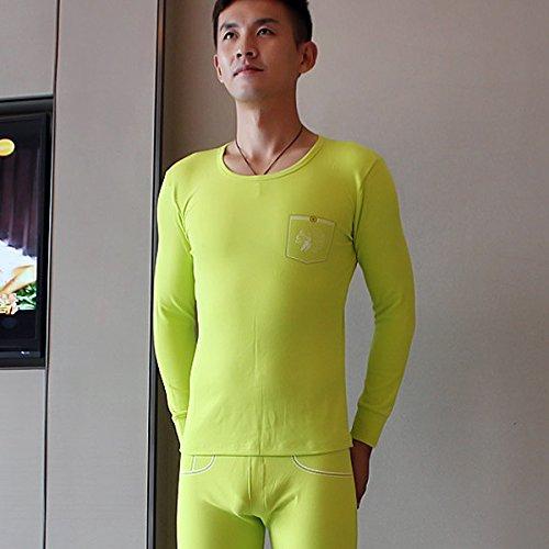 GS~LY confortevoli ed esclusive di intimo uomo intimo termico cotone Camicia di abbassarsi , giacca arancione abito unico , l  Acquista 2 ottenere 1 gratis