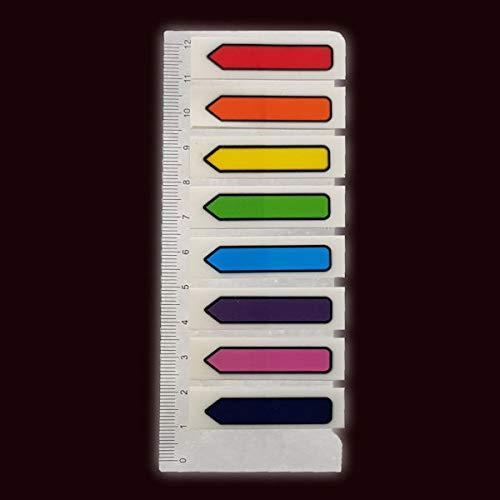Film-Pagemarker Haftmarker - 200 Blatt (8 x 25 Blatt) Pfeile zum Beschriften Markieren