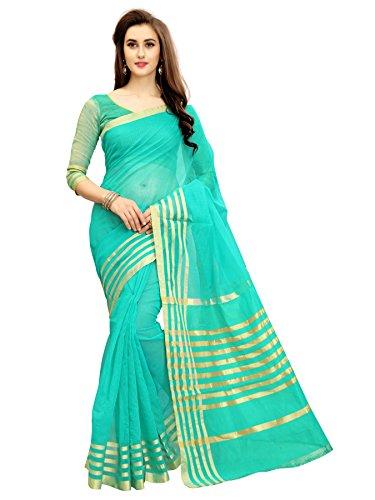Glory Sarees Women's Silk Saree with Blouse Piece (jari123_Firoji_Free Size)