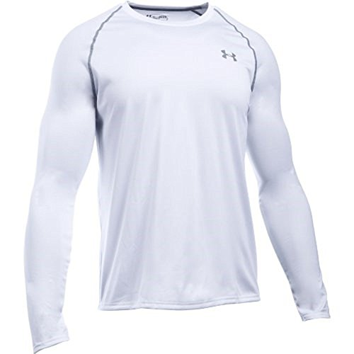 Under Armour Herren Langarmshirt Tech, wht/stl, XL, 1264088 (Athletic Long Sleeve Tee)